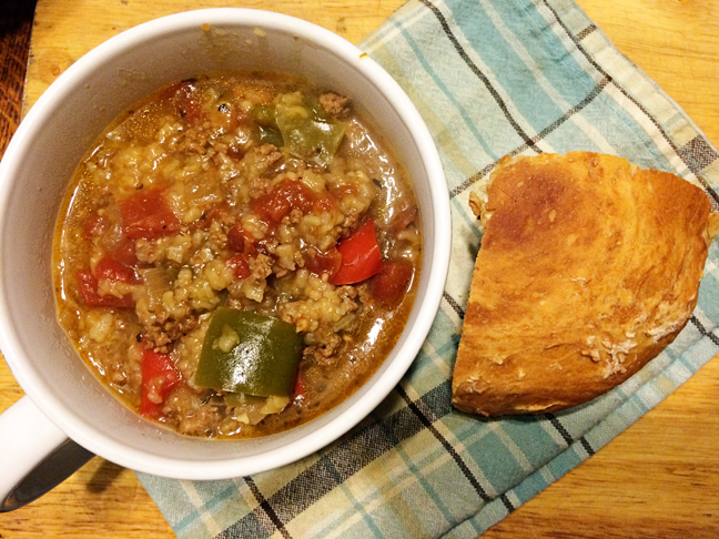 Stuffed Pepper Soup ~ Sugar Creek Farm